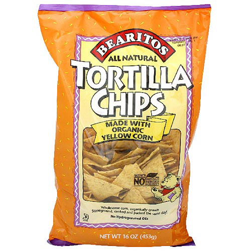 Bearitos Yellow Tortilla Chips, 16 oz (Pack of 12)