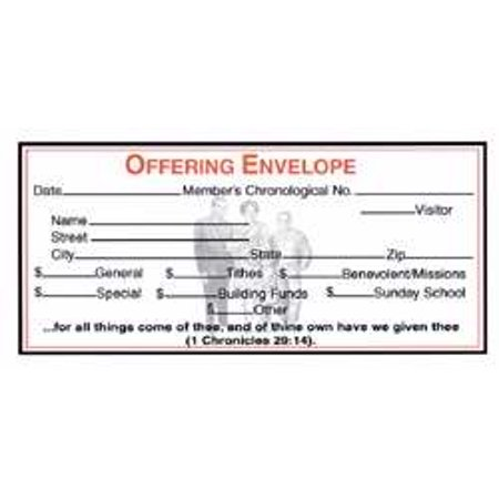 Gift Offering Envelope - Offering Envelope-Boyd s Record-Keeping System (Pack Of 500) (#29042)
