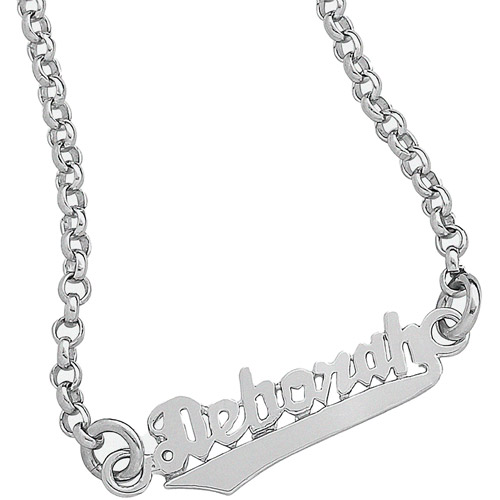 Personalized Sterling Silver Script Name Anklet