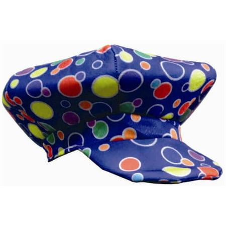 Blue Polka Dot Clown Cap - Hot Clown