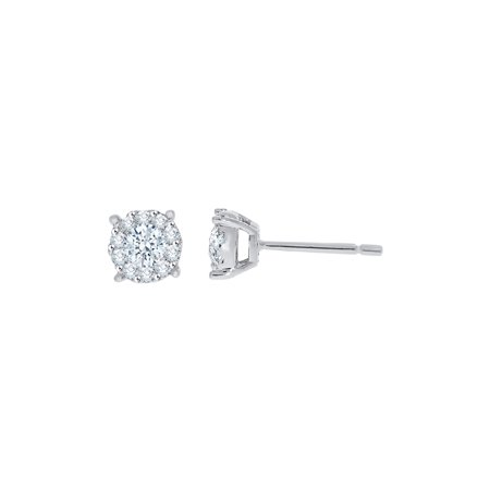 295522b21 KATARINA - KATARINA Diamond Stud Fashion Earrings in 14K White Gold (5/8  cttw, G-H, I2-I3) - Walmart.com