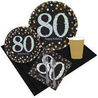 Sparkling Celebration 80th Birthday Party Pack for 8