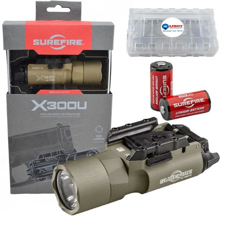 Surefire X300 Ultra 1000 Lumen LED Light w/ 2x CR123A Batteries X300U-A (X300 Light)