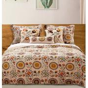Global Trends Alta Reversible Quilt Bonus Set with Decorative Pillows