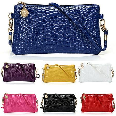 (Newpee Women Fashion Shoulder Bag Tote Messenger Faux Leather Zipper Satchel Handbag)