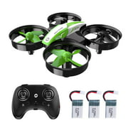 Holy Stone HS210 Mini RC Nano Drone Quadcopter RC Helicopter Plane with Auto Hovering, 3D Flip, Headless Mode and Extra Batteries Best Drone for Kids and Beginners Boys and Girls Color Green