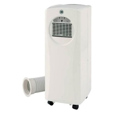 Sunpentown 10,000-BTU SlimLine Portable Air Conditioner with Supplemental 9,500-BTU Heater, White, -