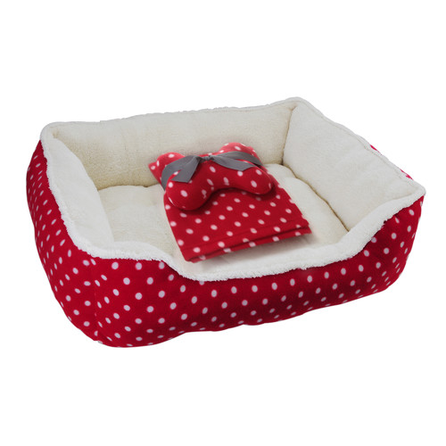 "Drowzzzy 3 Piece Polka Dots Gift Set Size: Small (22"" L x 18"" W )"