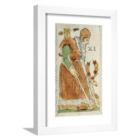 - Tarot Card Depicting Hermit, 16th Century, Italy Framed Print Wall Art