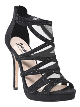 2998aa966133 Product Image Sweetie s Shoes Black Strappy Special Occasion Samira  Platforms 5.5-11 Womens