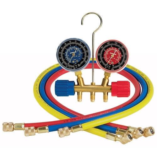 Robinair 40153 R-12 2-Way Standard Side Wheel Manifold Set