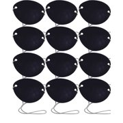 Dozen Traditional Pirate Captain Matie Black Eye Patch Costume Accessory by Rhode Island Novelty