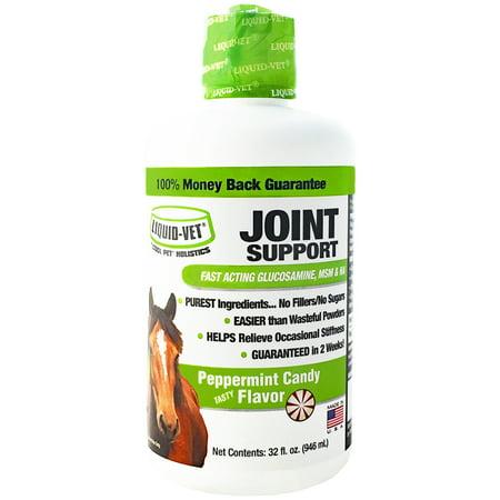 Equine Liquid - Liquid-Vet Equine Joint Support Fast-Acting Peppermint Glucosamine