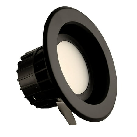 NICOR Lighting 4-Inch Dimmable 3000K LED Remodel Downlight Retrofit Kit for Recessed Housings, Black Trim