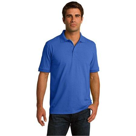 Port & Company Men's Polo T Shirts Short Sleeve Cotton Casual Golf Sport Uniform
