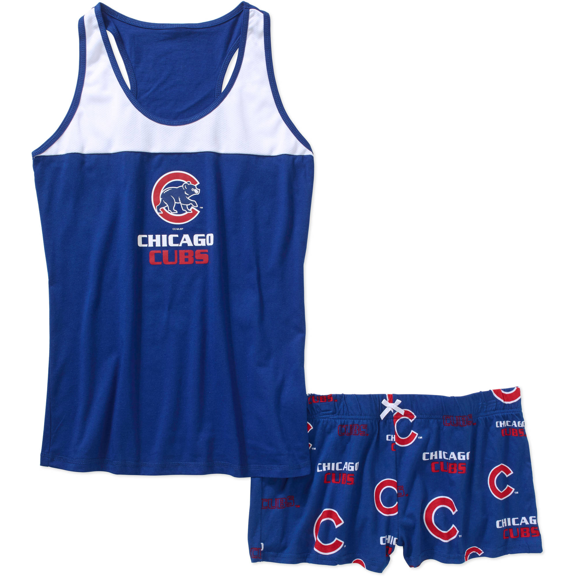 MLB Women's Chicago Cubs Tank Top and Shorts Set