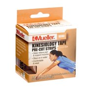Sports Medicine Kinesiology Tape Pre-Cut Strips, Beige, 0.23 Pound, Helps improve circulation and relieve pain. By Mueller