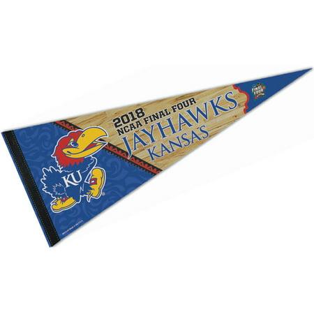 Kansas Jayhawks Garden Flag (Kansas KU Jayhawks 2018 Final Four Pennant )