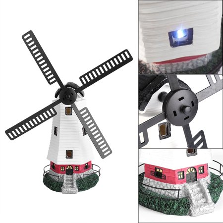 Solar Windmill - EECOO Outdoor Solar Powered Rechargable LED Windmill Light Lamp Garden Landscape Decor Ornament