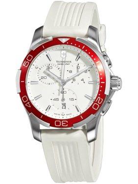 Swiss Army Alliance Sport Chronograph Steel Womens Watch White Strap Date 241504