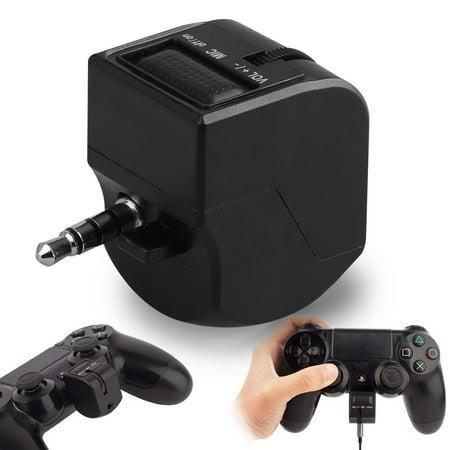 EEEkit Headset Audio Control for PS4 DualShock Controller, [Volume Slider] 3.5mm TRRS Jack PC Gaming Headphone Audio Adapter for Playstation 4 Joystick