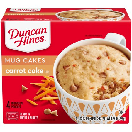 Duncan Hines® Perfect Size for 1® Decadent Carrot Cake Mix 4 ct