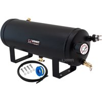 Vixen Horns 1.5 Gallon (6 Liter) 6 Ports Train/Air Horn Tank System/Kit 150 PSI with Gauge,Pressure Switch,Drain and Safety Valve,Compression Fitting,Male Plug,Hose,Thread Sealant VXT1500