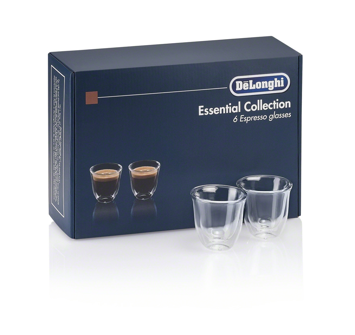 De'Longhi Gift Set 6 Espresso Double Wall Thermal Glasses