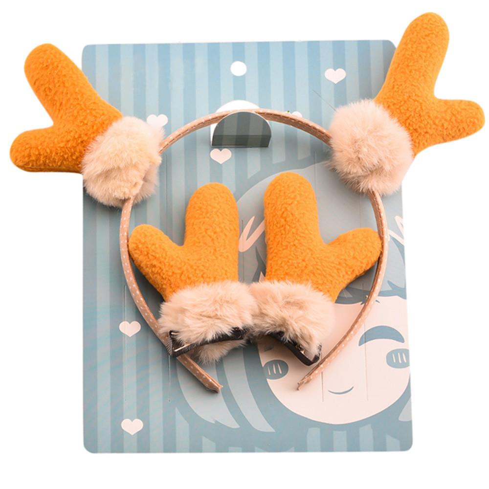 Infant Baby Girls Christmas Deer Ears Cartoon Hairclip Hairpin Set Barrettes