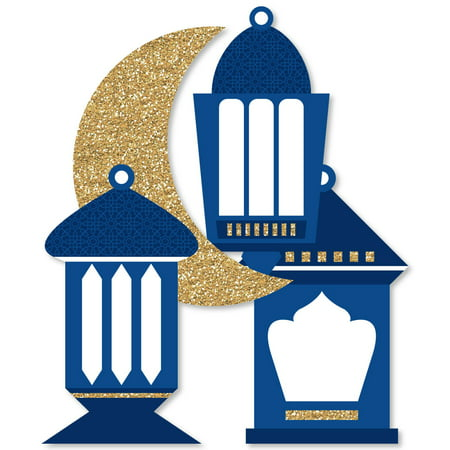 Ramadan - Lantern Decorations DIY Eid Mubarak Party Essentials - Set of 20 - Damask Decorations Party