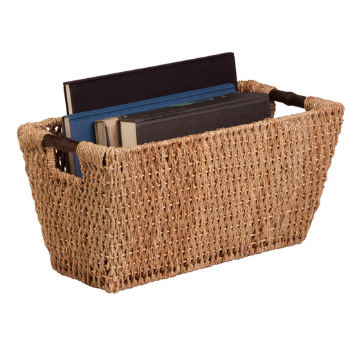 Honey-Can-Do Seagrass Basket with Handles, Large