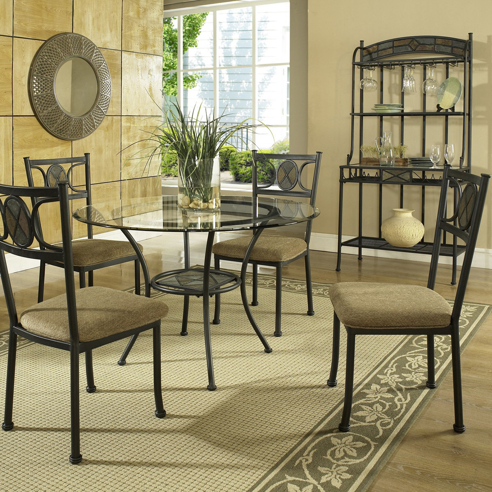 Steve Silver Carolyn 5 Piece Dining Table Set