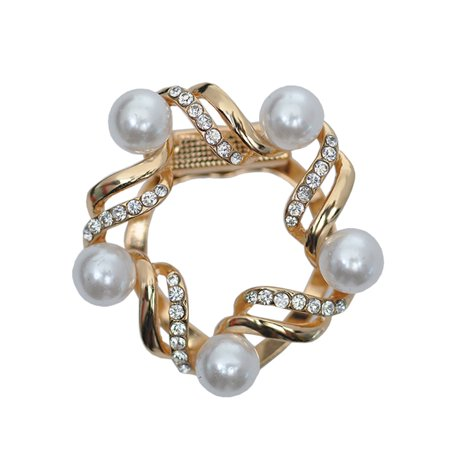 Women Two-use pearl Diamond-studded Scarves Buckle Brooches Pin
