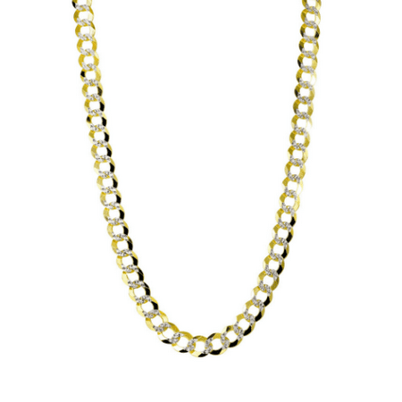 0c909d563 bh5star - Hollow Mens Diamond Cut Cuban Link Chain 10K Yellow Gold 24  inches - 4.5mm - Walmart.com