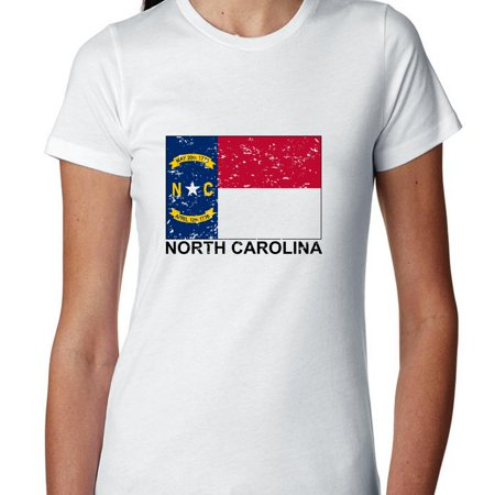 North Carolina State Flag   Special Vintage Edition Womens Cotton T Shirt