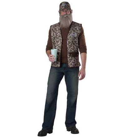 Duck Dynasty Uncle Si Costume, Camouflage, One Size