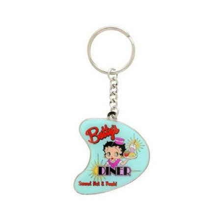 Betty Boop Enamel Keychain (Betty Boop Diner Keychain )