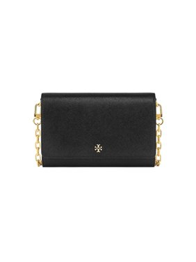 18cadf0c96a Product Image NEW WOMENS TORY BURCH EMERSON ROBINSON BLACK CHAIN LEATHER  WALLET CROSSBODY BAG