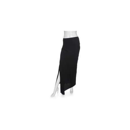 Enza Costa Black Ribbed Knit Maxi Skirt (S) (Enza Costa Cashmere)