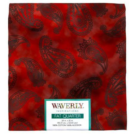 "Waverly Inspirations Cotton 18"" x 21"" Fat Quarter Tone on Tone Paisley POP Fabric, 1 Each"