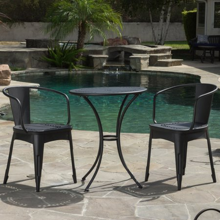 Kayla Aluminum 3 Piece Round Patio Dining Set ()