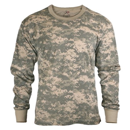 (ACU Digital Camouflage Mens Army Digital Camo Long Sleeve T-shirt, Size Large, Quality tested and ensured for maximum durability By Rothco)