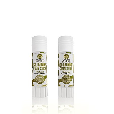 (SoSoft BrandsTM Eco Friendly Natural Plant Based Laundry Stain Remover Stick - 2 PACK)