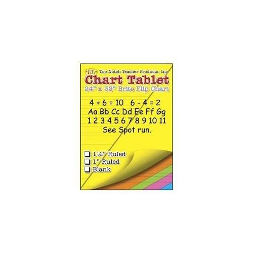 Shoplet Best CHART TABLETS 24X32 ASSORTED BLANK SCBTOP3822-3 (Pack of 3)