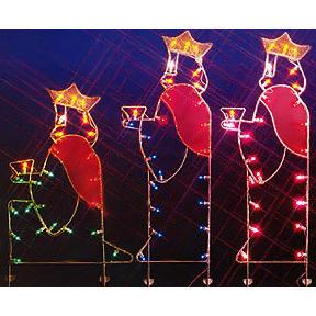 "66"" Three Wisemen Nativity Silhouette Lighted Wire Frame ..."