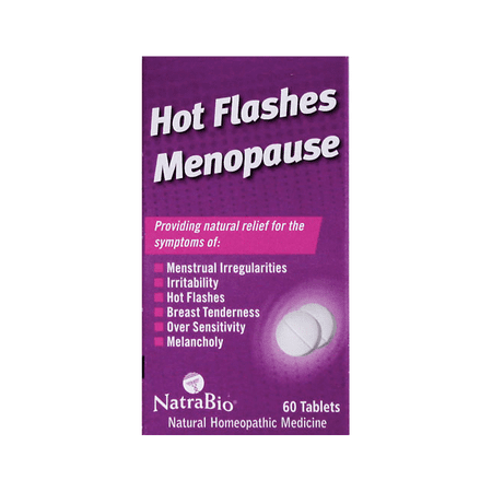 NatraBio Hot Flashes Menopause Tablets, 60 Ct