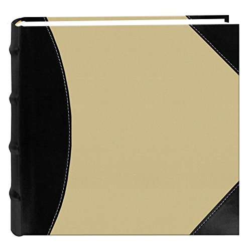Pioneer Photo Albums Fabric Leatherette 500 4x6 Photo Album Beige Black 3 Pack by Pioneer Photo Albums