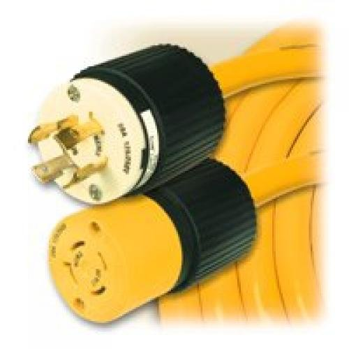 Coleman Cable 1381 10/4 X 25 ft. Stw 20 Amp Outdoor Cord, Yellow
