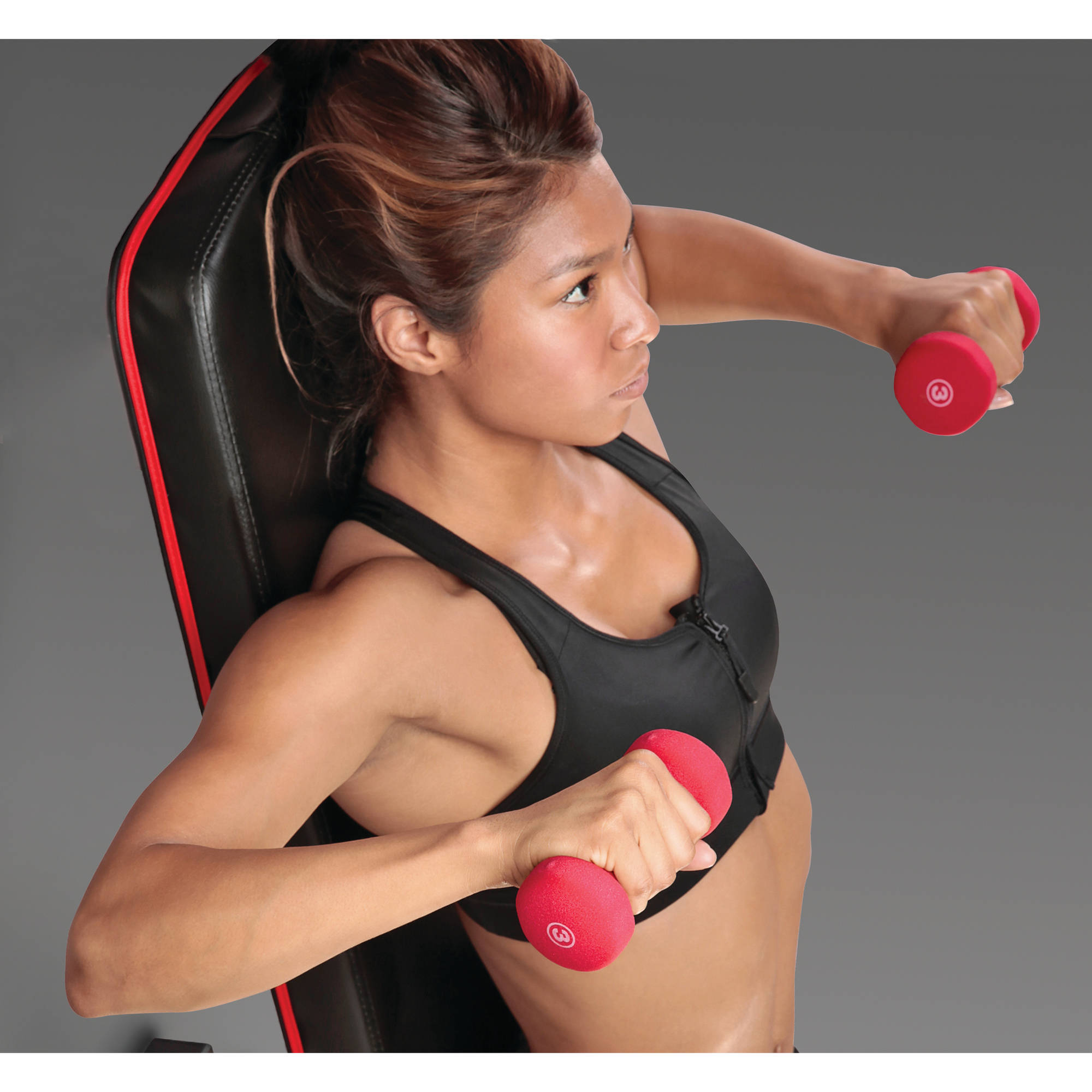 Marcy 3-Pair Neoprene Dumbbell Set. NDS-21.1