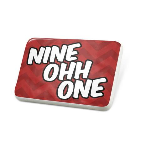 Porcelein Pin 901 Memphis, TN red Lapel Badge – NEONBLOND ()